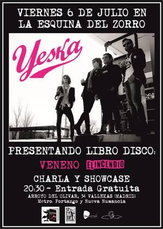 YESKA presentan su nuevo LIBRO+DISCO en Madrid. (Presentación libro+Showcase Acústico)