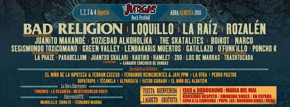 The Juergas Rock Festival publica el cartel y entradas por día