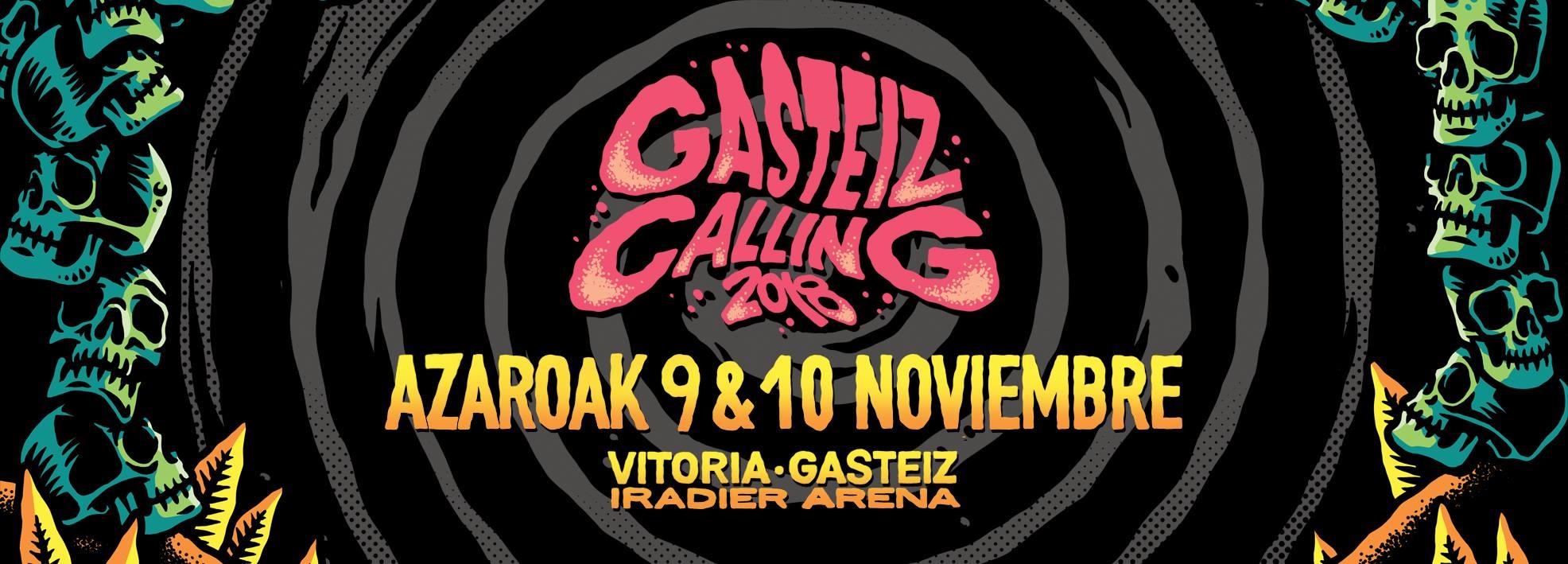 GASTEIZ CALLING 2018 publica el cartel por días