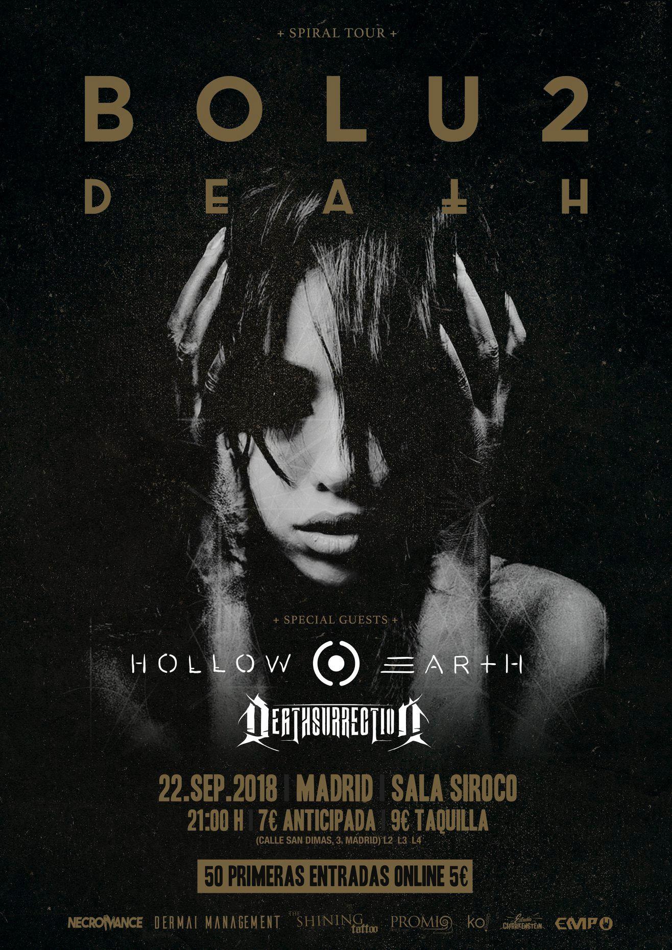 BOLU2 DEATH – concierto presentación de su disco «Spiral» en Madrid