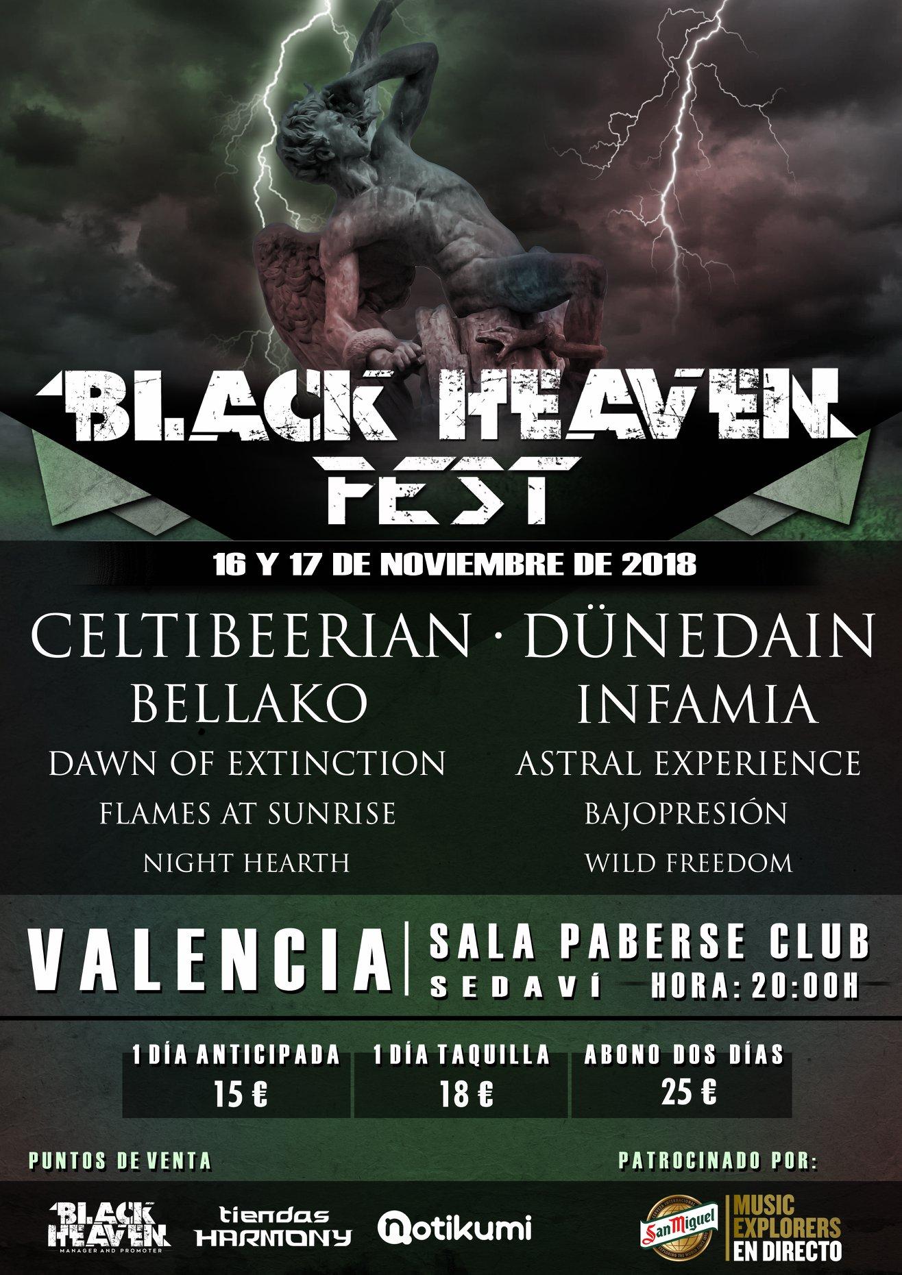BLACK HEAVEN FEST 2018 – 16 y 17 de noviembre (Valencia)