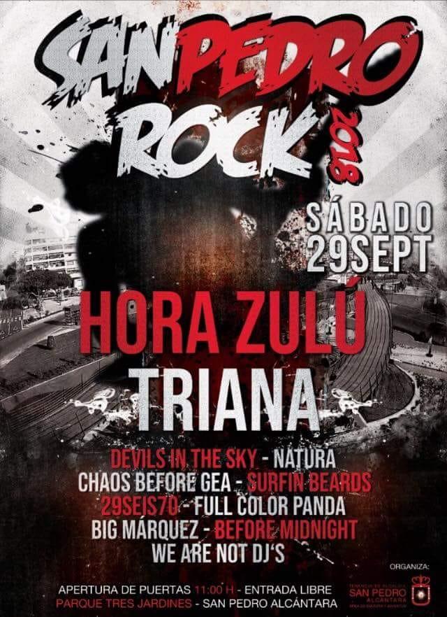 XVI SAN PEDRO ROCK – HORA ZULU Y TRIANA cabezas de cartel