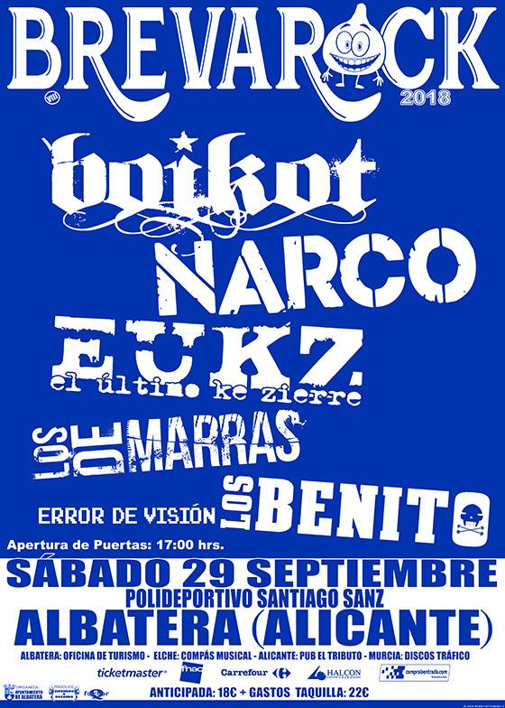 BREVA ROCK 2018, 29 de septiembre, Albatera ( Alicante)