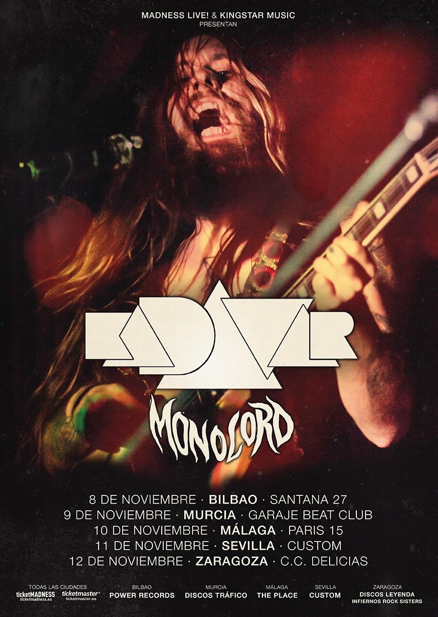 KADAVAR + MONOLORD, quedan dos meses para su gira por España