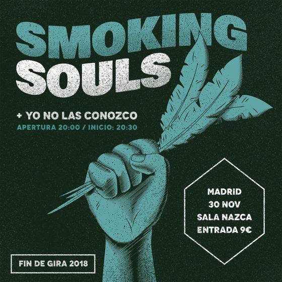 SMOKING SOULS, concierto fin de gira en Madrid el 30 de noviembre