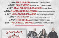 SARATOGA presentarán su nuevo disco 'Aeternus' en 8 ciudades (firma + showcase)