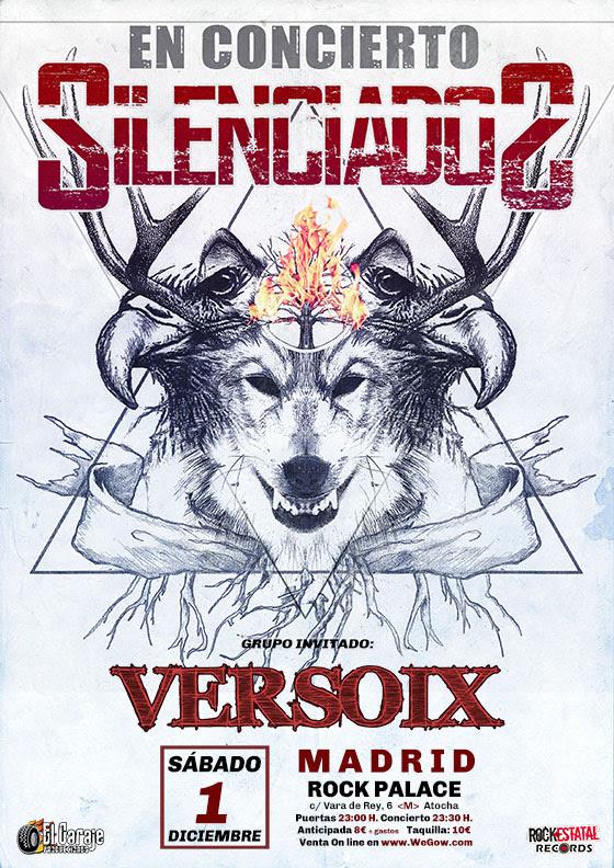 SILENCIADOS concierto fin de gira el 1 de Diciembre en Madrid