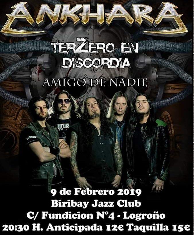 ANKHARA estarán actuando en Logroño el 9 de febrero
