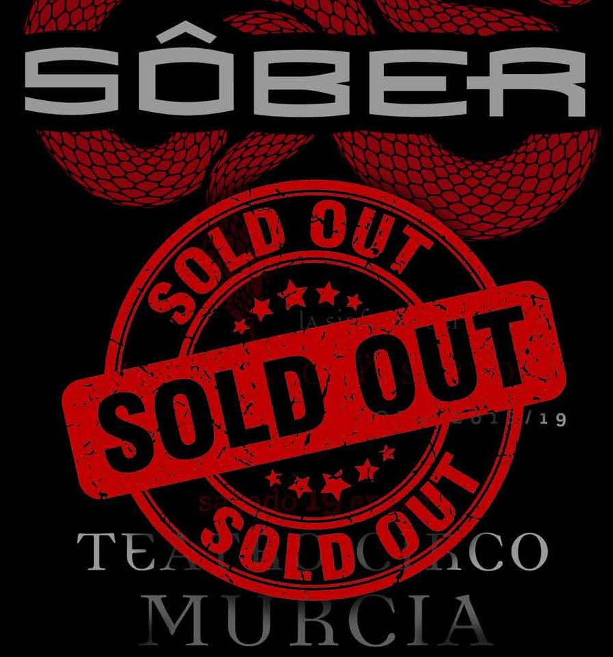 """Sôber, """"Sold out"""" también en Murcia"""