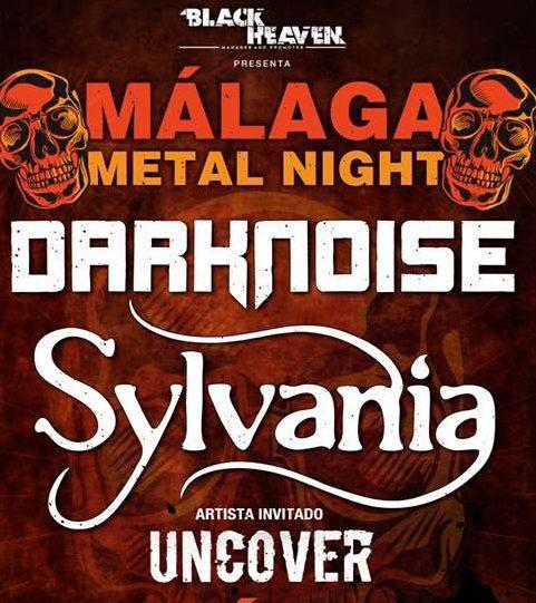 Recordamos que DARKNOISE + SYLVANIA + UNCOVER estarán actuando el22 de febrero en Málaga