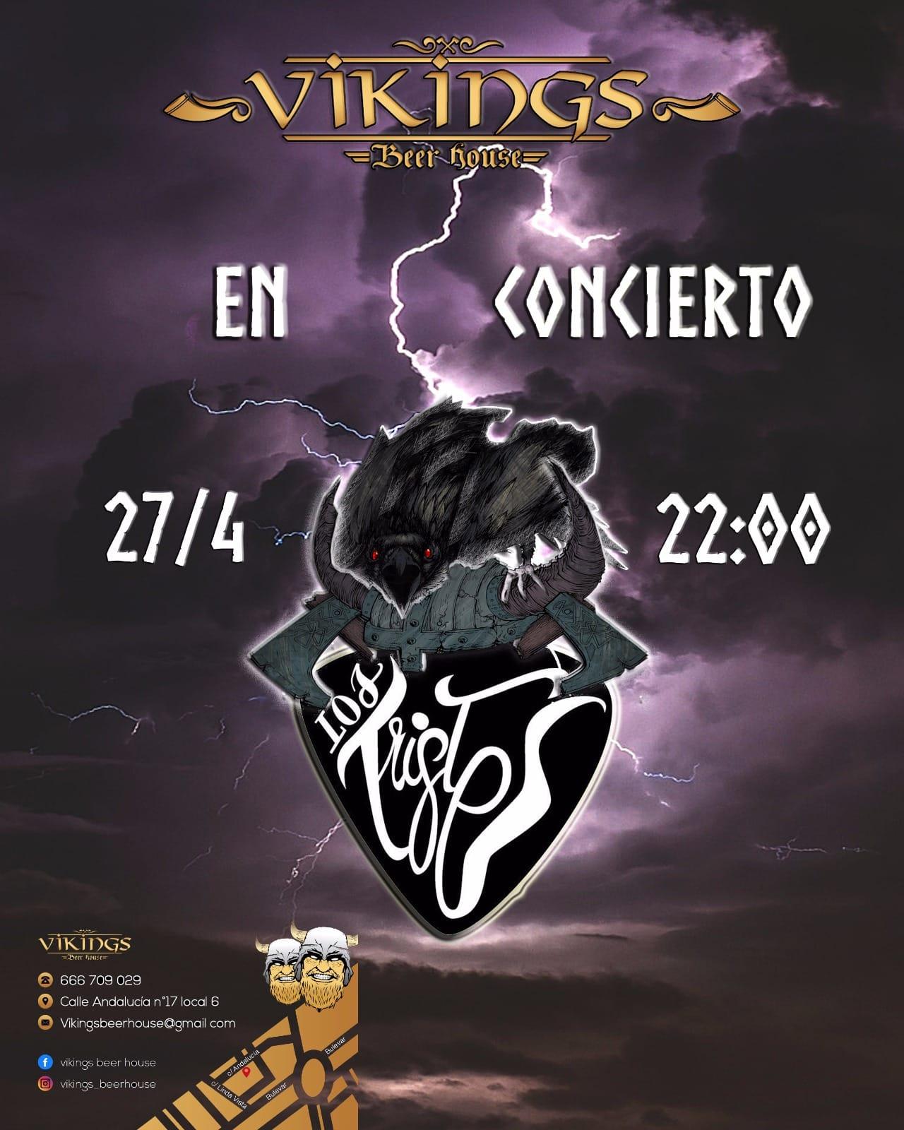 LOS TRISTES estarán actuando el 27 de abril en Viking Beer House (San Pedro De Alcántara)