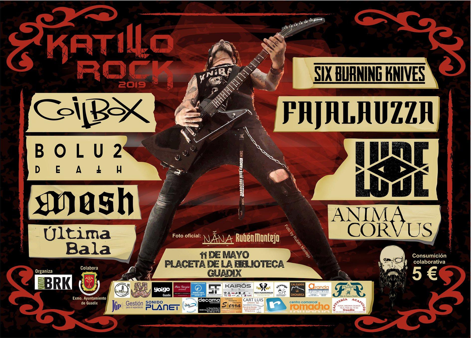 KATILLO ROCK 2019 presenta el cartel completo – 11 de Mayo en Guadix