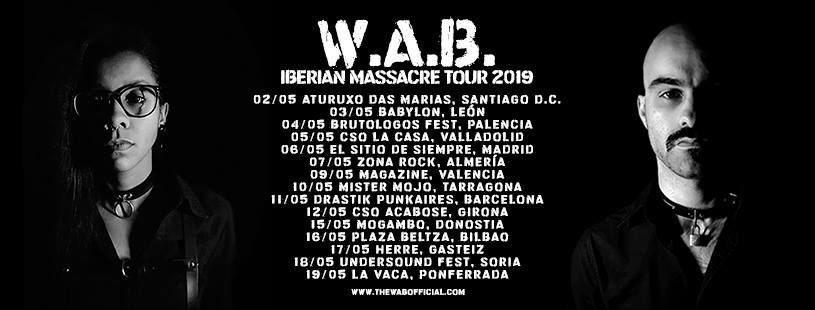 W.A.B. presentan las primeras fechas de su Iberian Massacre Tour 2019