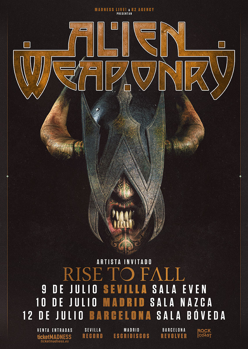 ALIEN WEAPONRY + RISE TO FALL de gira por España en julio