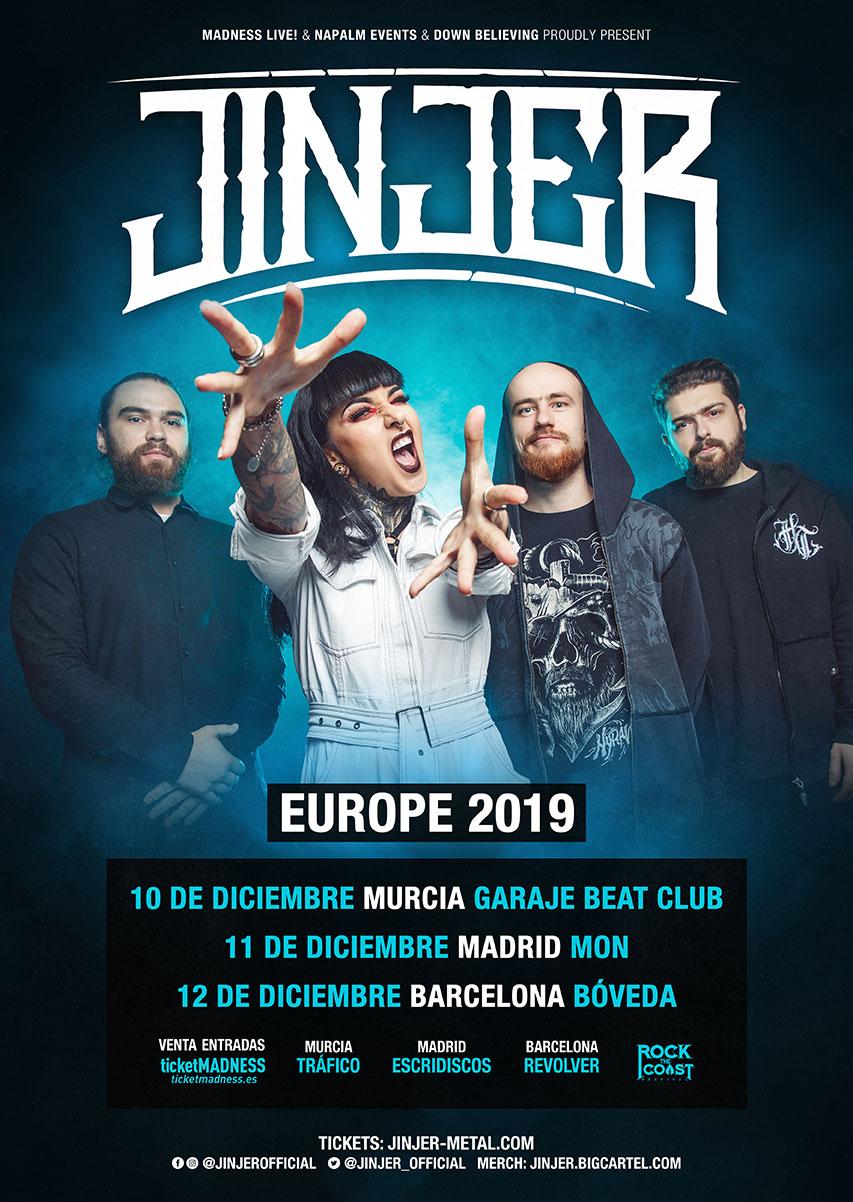 JINJER actuarán  en España el mes de diciembre