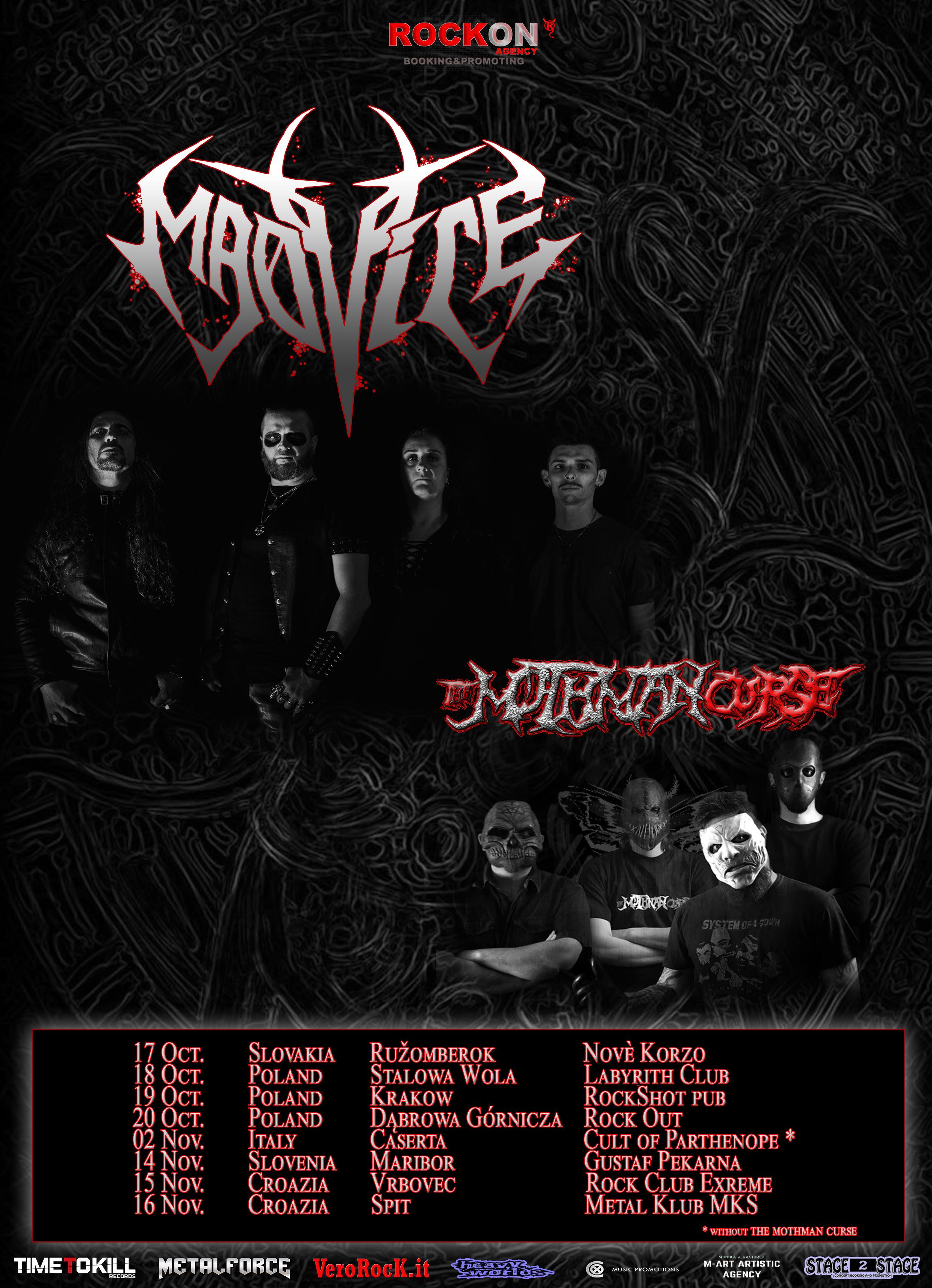 Nueva gira europea de MADVICE acompañados por THE MOTHMAN CURSE