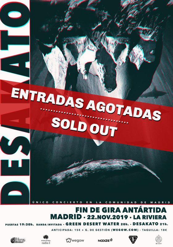 DESAKATO agotan las entradas de su concierto en MADRID