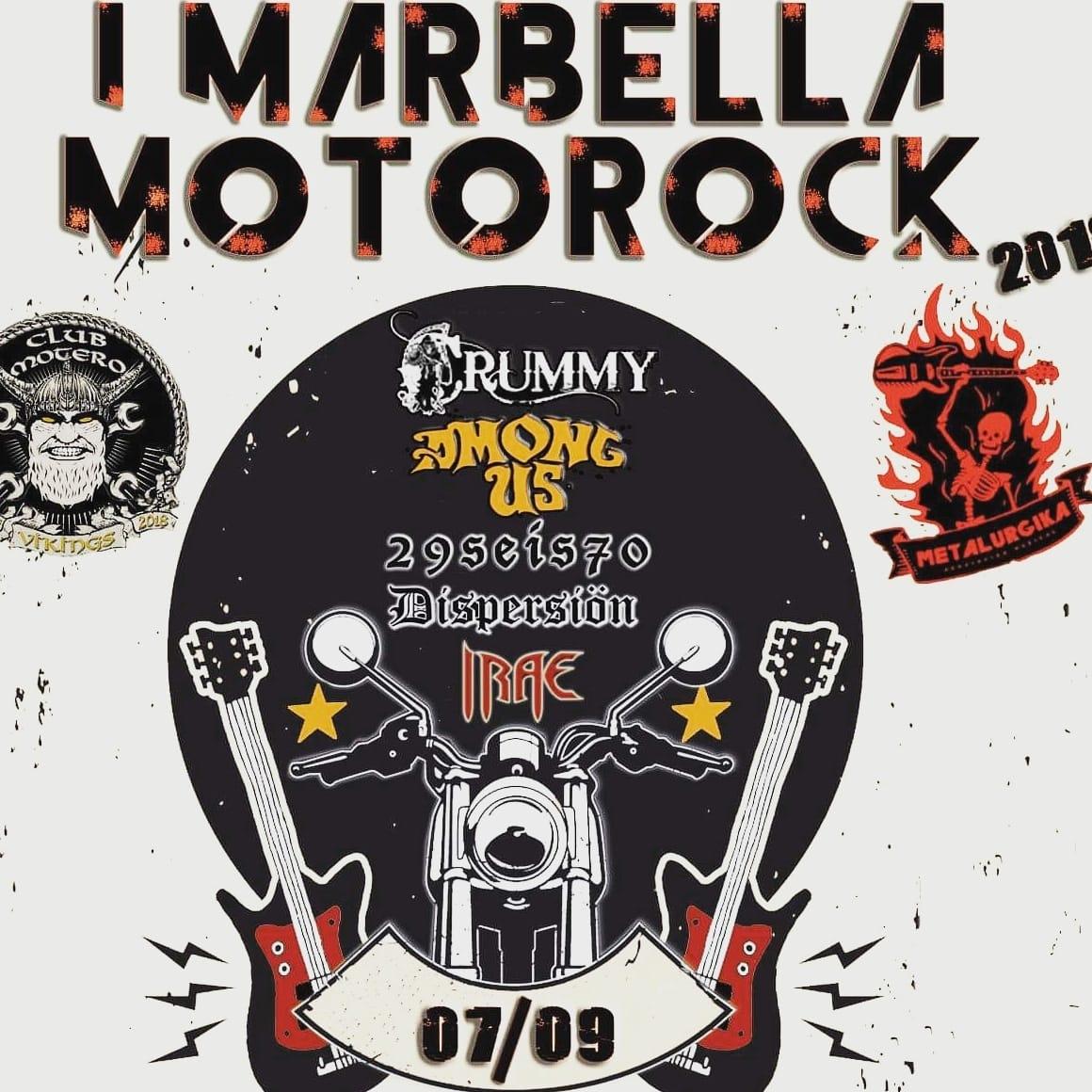 I MARBELLA MOTOROCK 2019 – 7 de septiembre en Fuerte de Nagüeles (Marbella)