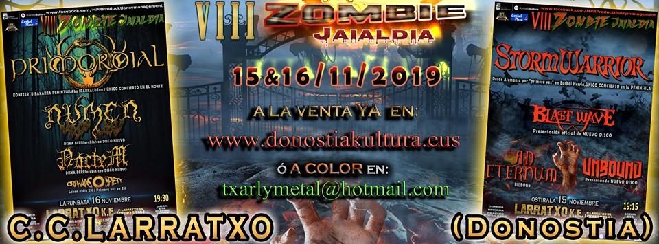 VIII ZOMBIE JAIALDIA Fest de los próximos 15 y 16 de noviembre