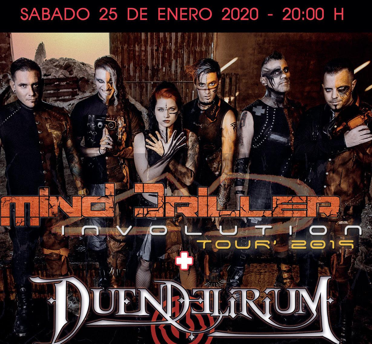 DUENDELIRIUM junto a MIND DRILLER el 25 de enero en Madrid