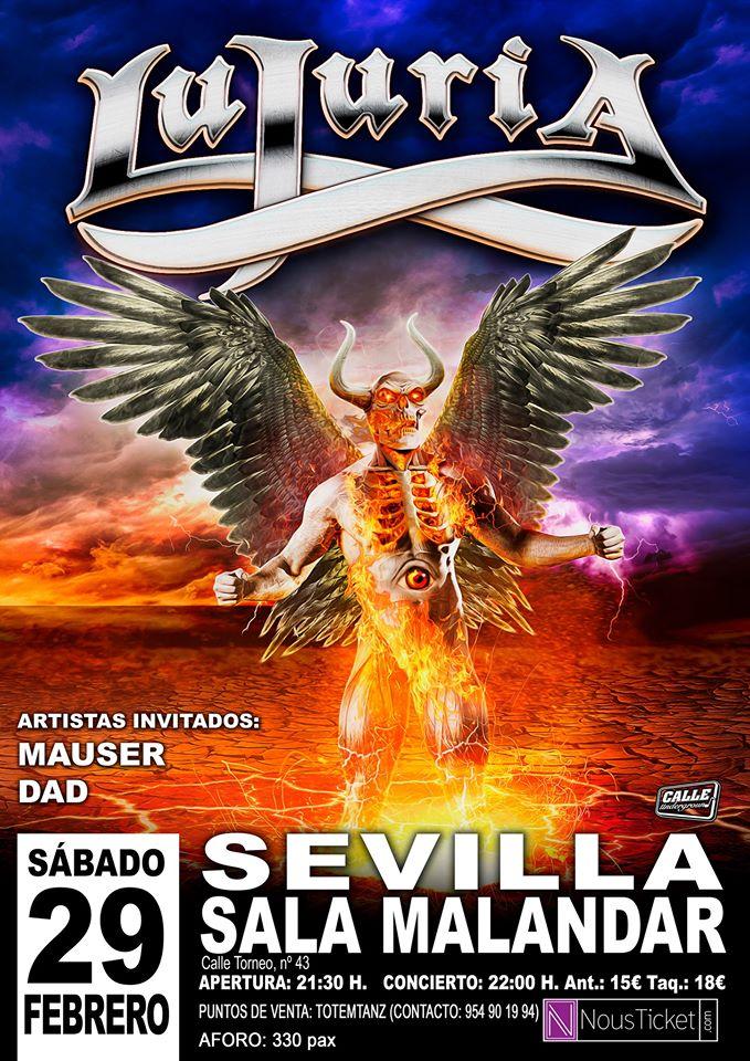 Lujuria aplaza su concierto de este Sábado en Sevilla