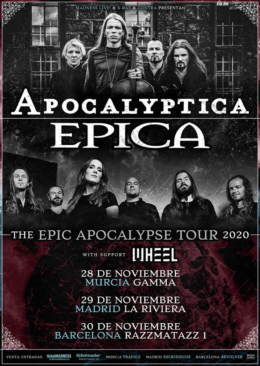 APOCALYPTICA estará actuando en España junto a EPICA y WHEEL en noviembre