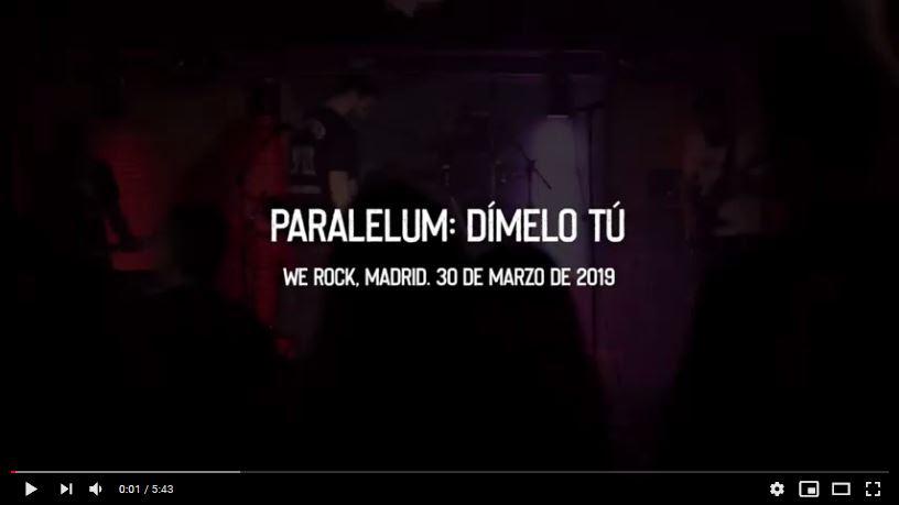 PARALELUM Nuevo videoclip y próximas fechas de «Under the tour 2020»