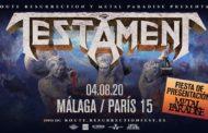 Metal Paradise Fest Warm-Up con Testament – Titans of Creation – 4 de agosto en Málaga (Sala París 15)