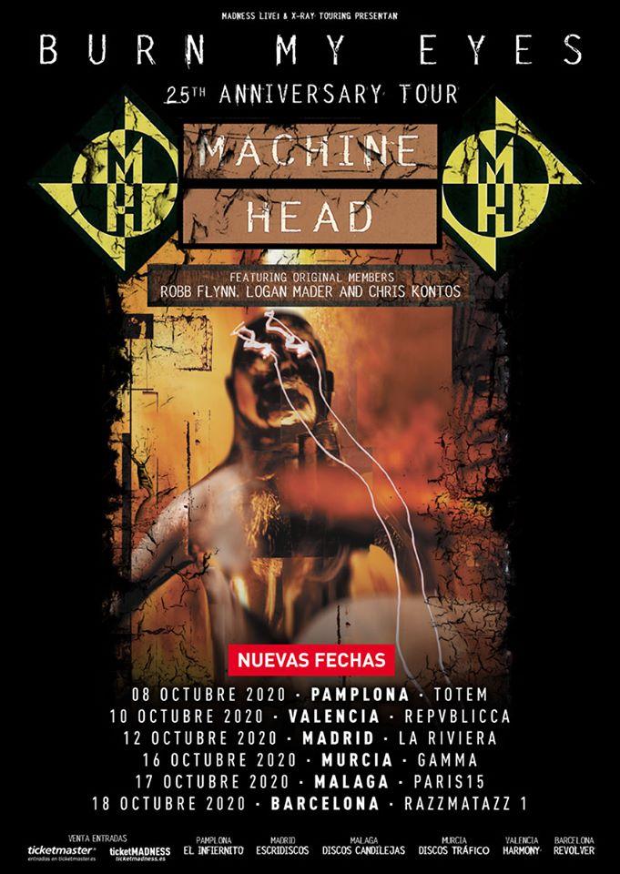 """MACHINE HEAD nuevas fechas en España de la gira """"Burn My Eyes"""""""