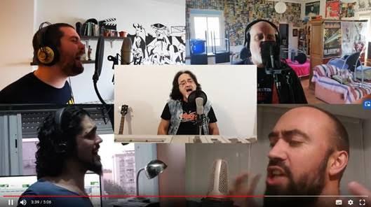MÚSICOS DE ROCK unidos contra el CORONAVIRUS (video) ::: (Reincidentes, Barón Rojo, Ñu, Gritando en Silencio, La Fuga, Tregua, Heredeiros da Crus…)
