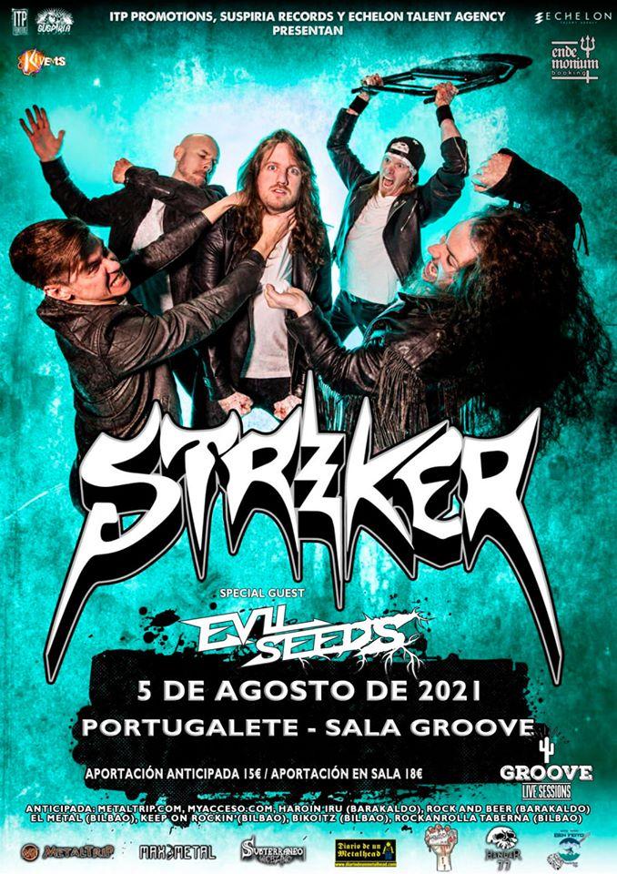 Striker estarán actuando en Portugalete el 5 de agosto de 2021