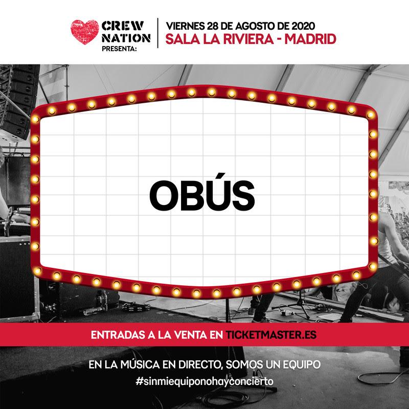 Obus: El 28 de agosto en La Riviera (Madrid)