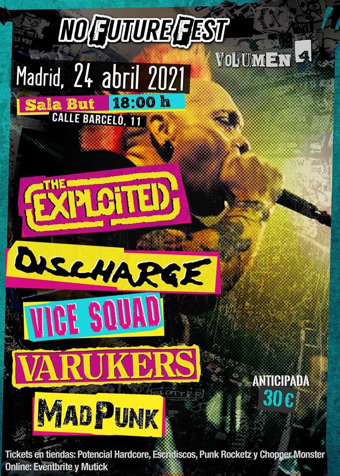 No Future Fest Vol.4:  El 24 de abril de 2021 en Madrid