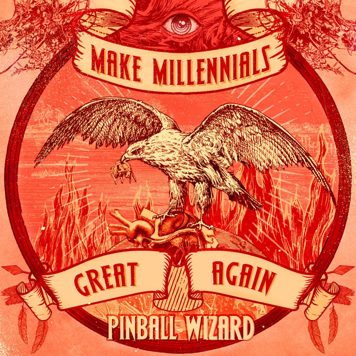 """PINBALL WIZARD desvelan PORTADA + TRACKLIST + FECHA DE LANZAMIENTO de su nuevo EP """"Make Millennials Great Again"""""""