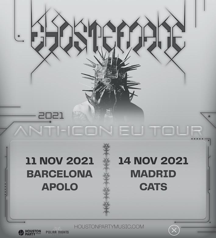 Ghostemane, en noviembre de 2021 en Barcelona y Madrid