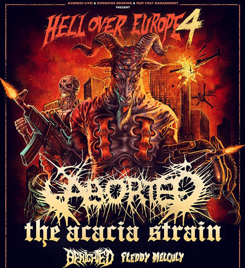 Aborted + The Acacia Strain + Benighted + Fleddy Melculy de gira por España en 2021