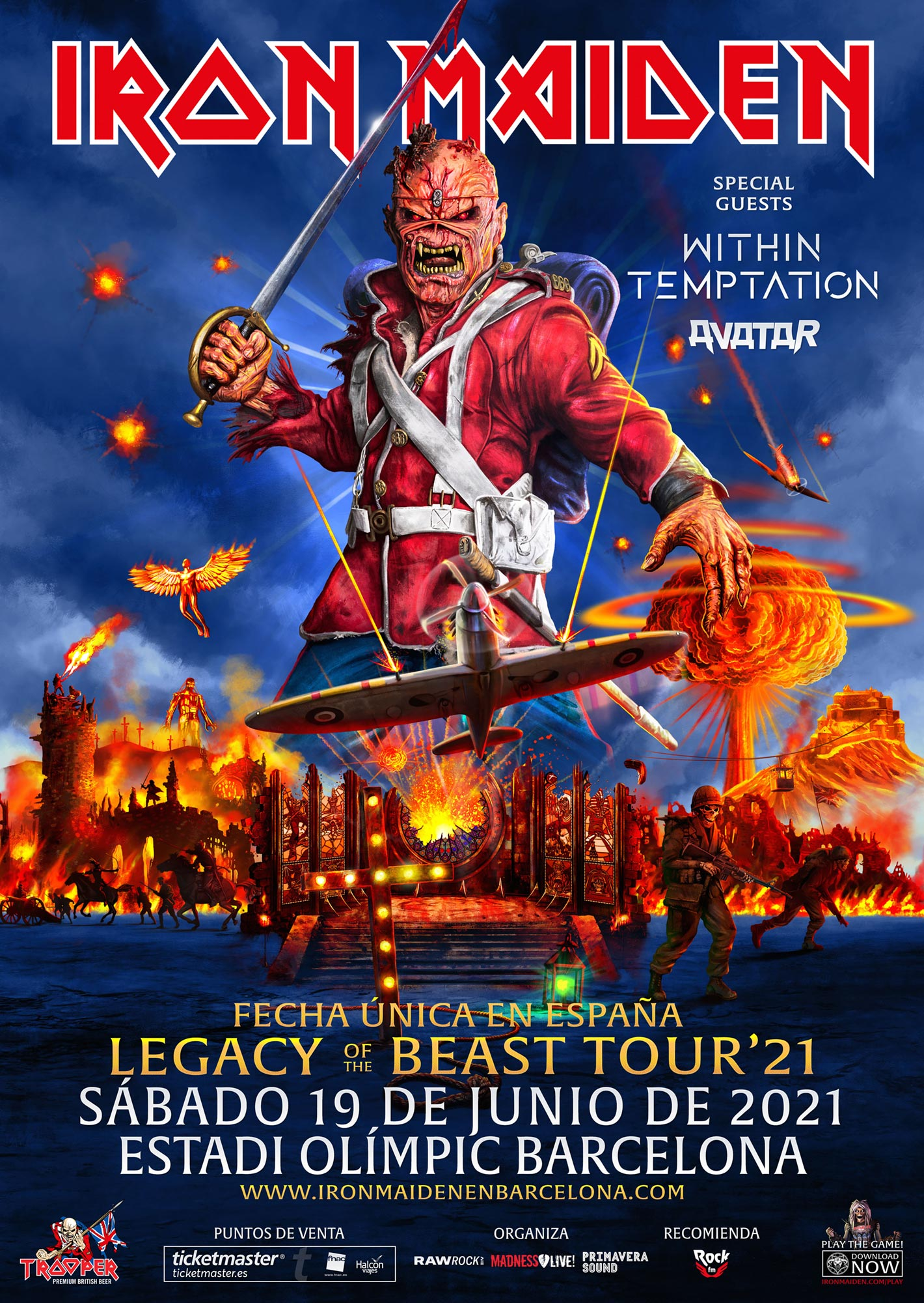 IRON MAIDEN – 19 JUNIO 2021 EN BARCELONA