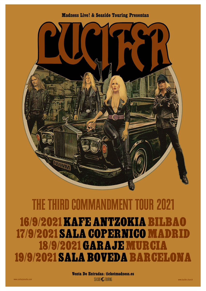 LUCIFER – GIRA ESPAÑOLA SEPTIEMBRE 2021