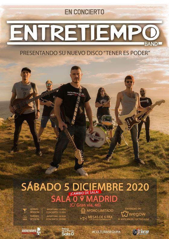 ENTRETIEMPO: Conciertos en Madrid este sábado 5 de diciembre