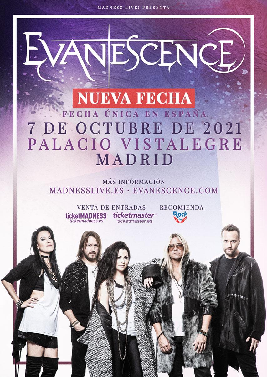 EVANESCENCE – 7 OCTUBRE EN MADRID