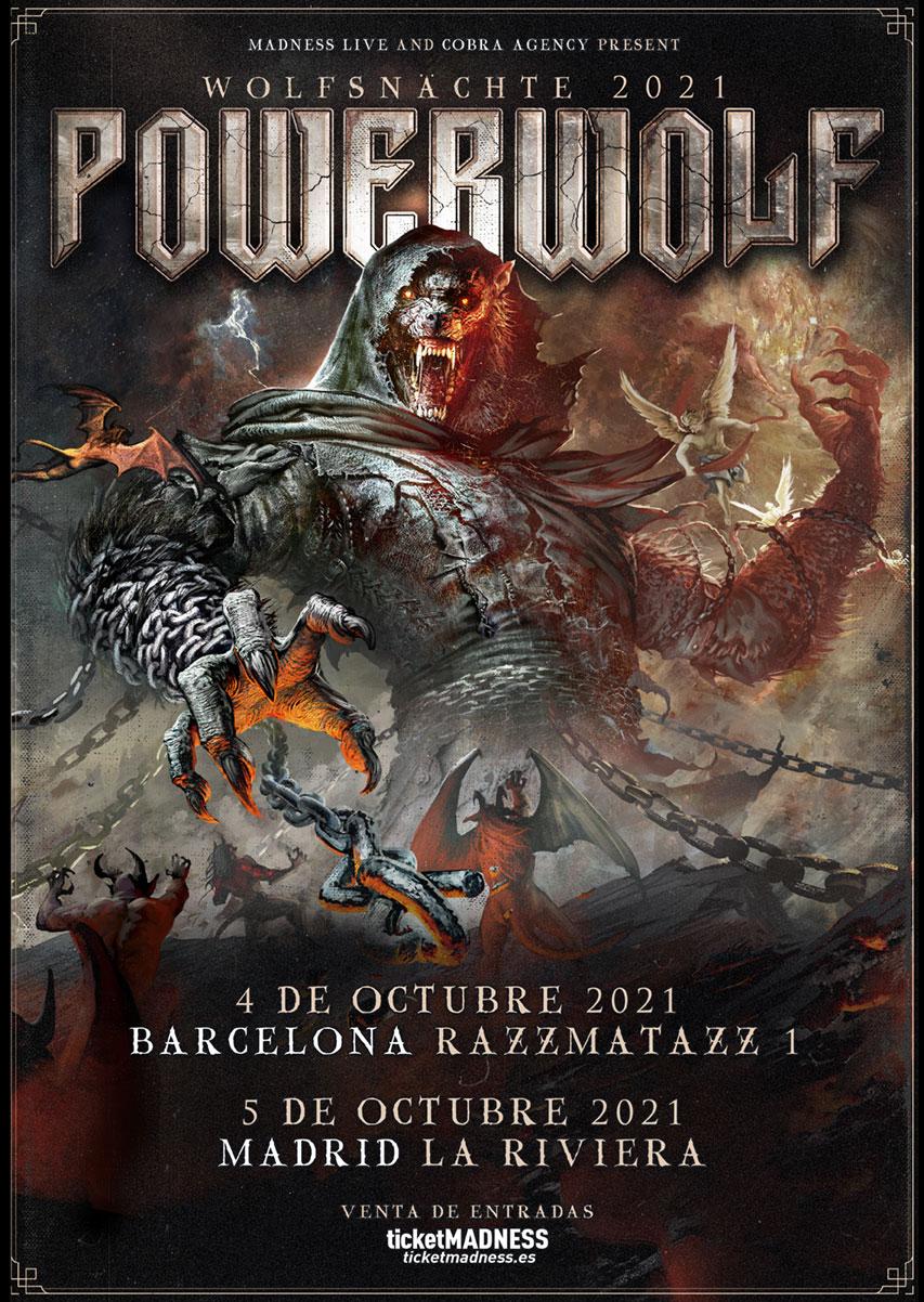 POWERWOLF – 4 Y 5 DE OCTUBRE EN BARCELONA Y MADRID