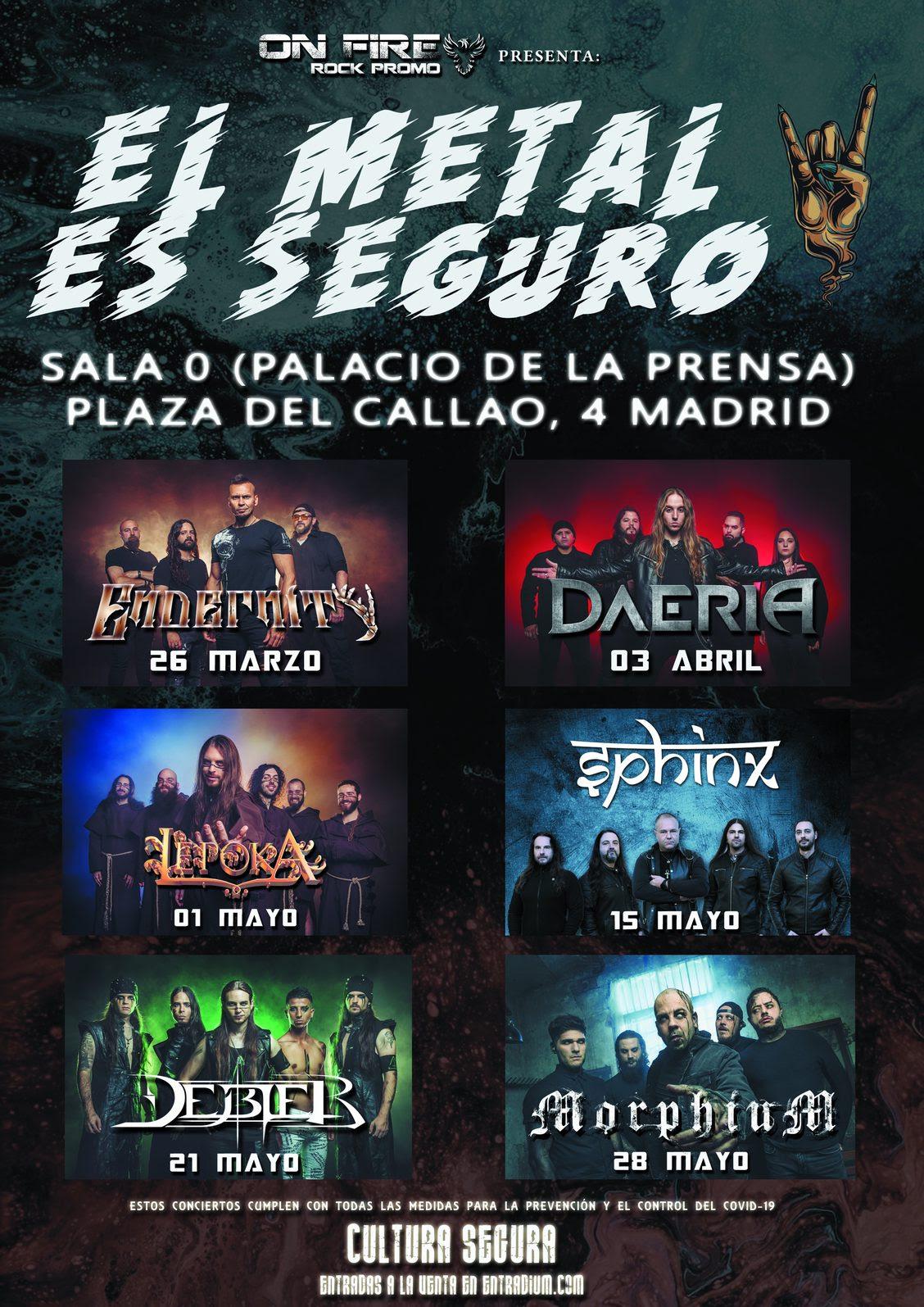 El Metal Es Seguro – Ciclo 6 conciertos en Madrid