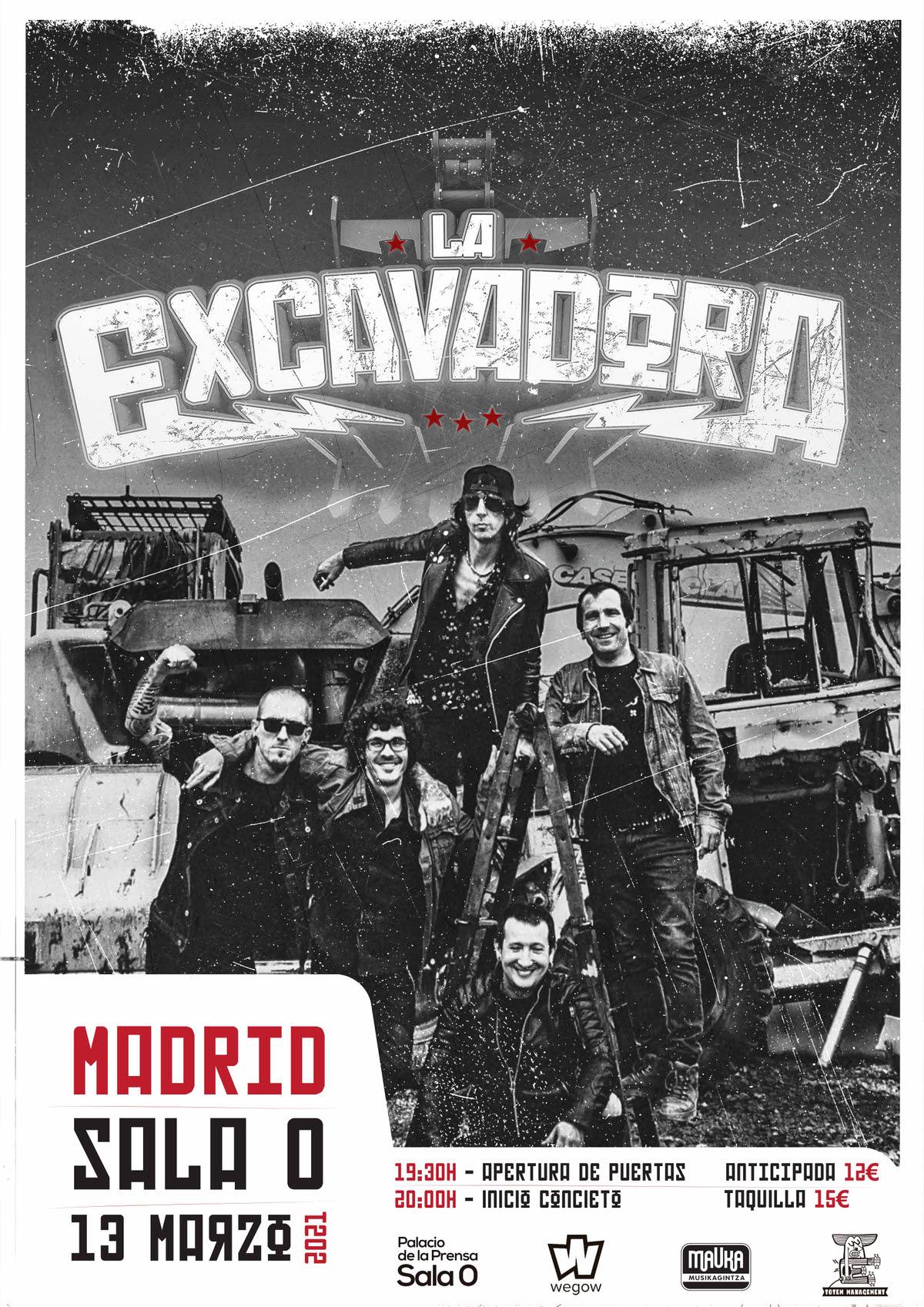 La Excavadora estará en Madrid el sábado 13 de marzo