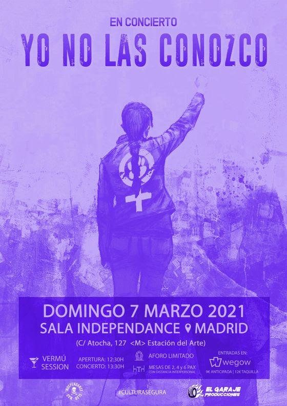 Yo No Las Conozco, este domingo en Madrid