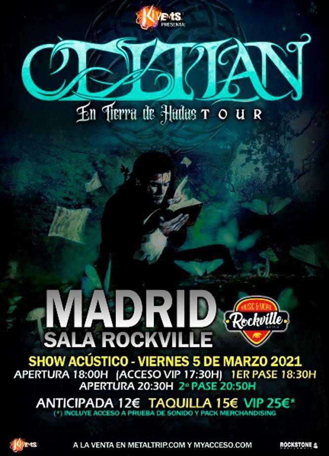 Celtian, doble sesión de concierto el viernes 5 de marzo en Sala Rockville de Madrid