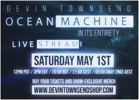 Devin Townsend: Live Stream tocando entero «Ocean Machine: Biomech»