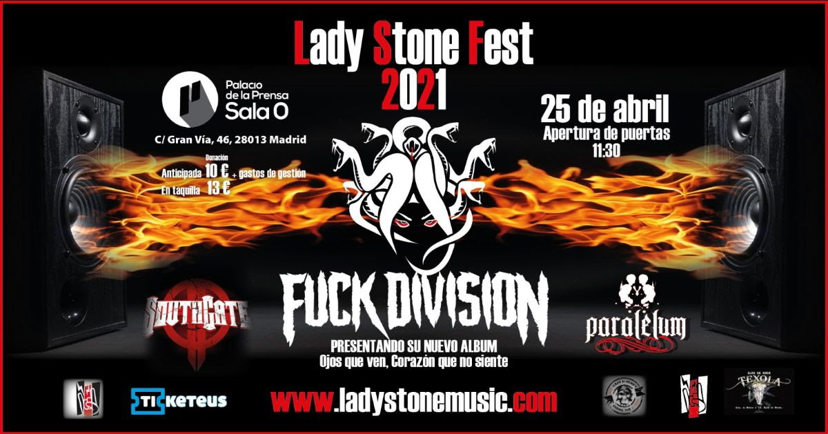 Cambios en el Lady Stone Fest: Entra FUCK DIVISION por RIVER CROW