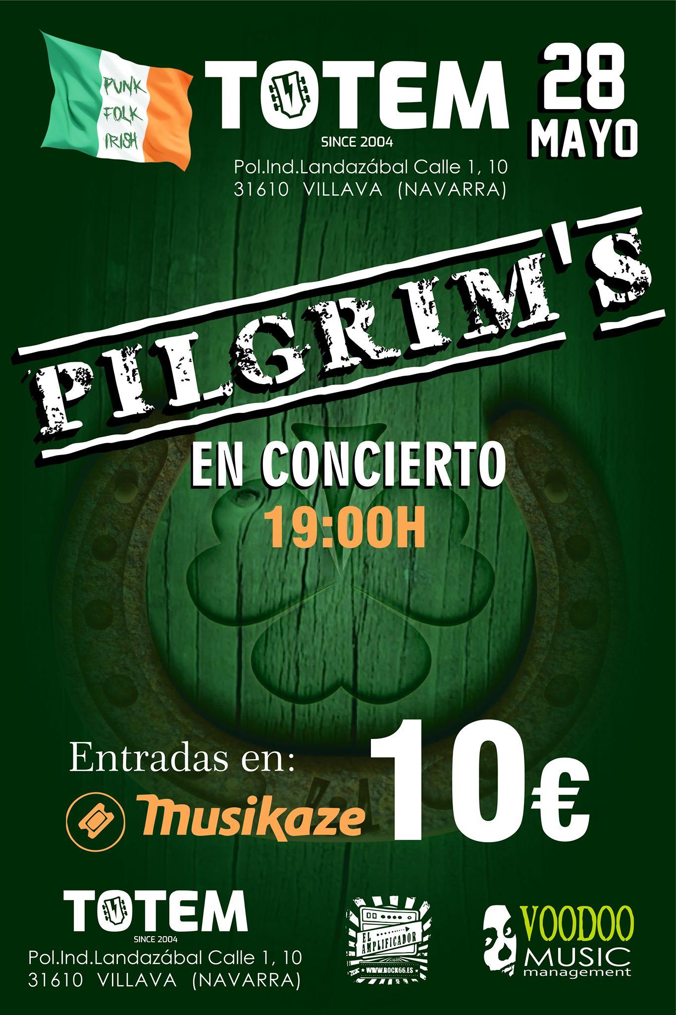 Pilgrim's – 28 de mayo en Sala Totem de Villaba (Navarra)
