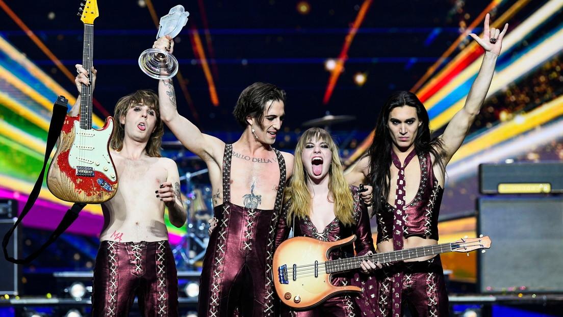 Italia con la banda Maneskin da el triunfo al rock en Eurovisión 2021