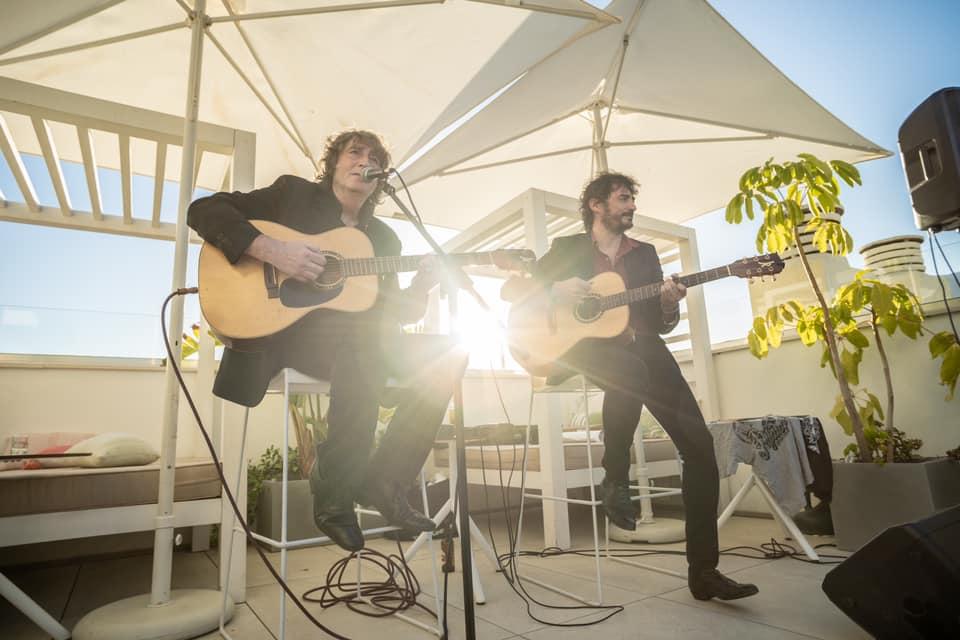 Andrés Herrera «Pájaro» y Raúl Fernańdez estuvieron en Virazón Restaurante Rooftop Bar (Hotel Lima – Marbella)